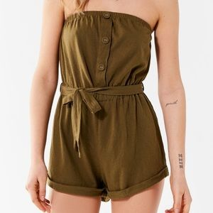 UO // Out From Under // Baylee Button Tube Romper